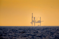Offshore Platform at Sunrise