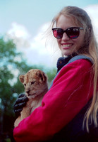 Sharyl with Lion Cub